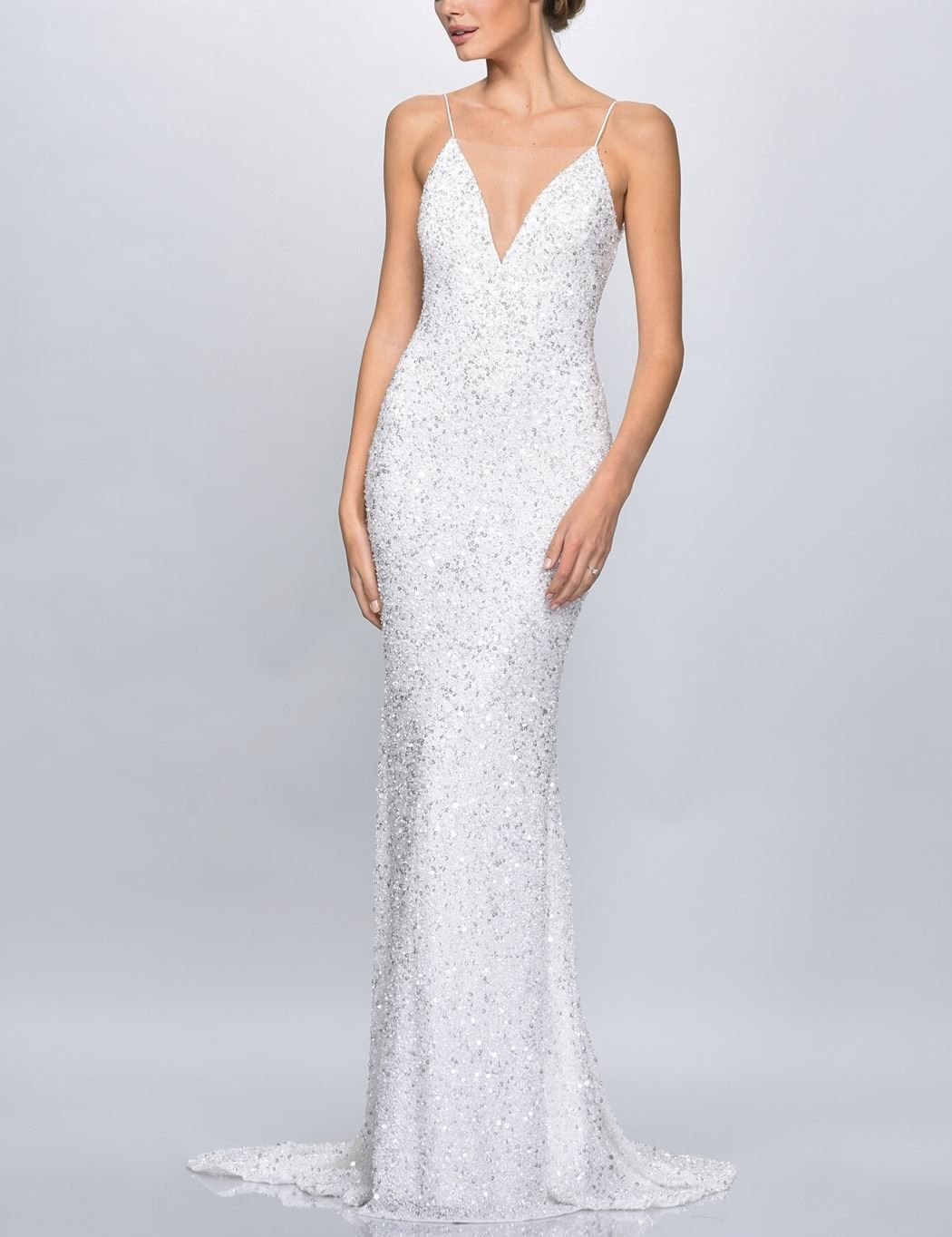 Theia Couture Astor Sparkle V Neck Wedding Gown At Lovely Bride Glitter Wedding Dress Pretty Prom Dresses Wedding Dress Sequin [ 1364 x 1050 Pixel ]