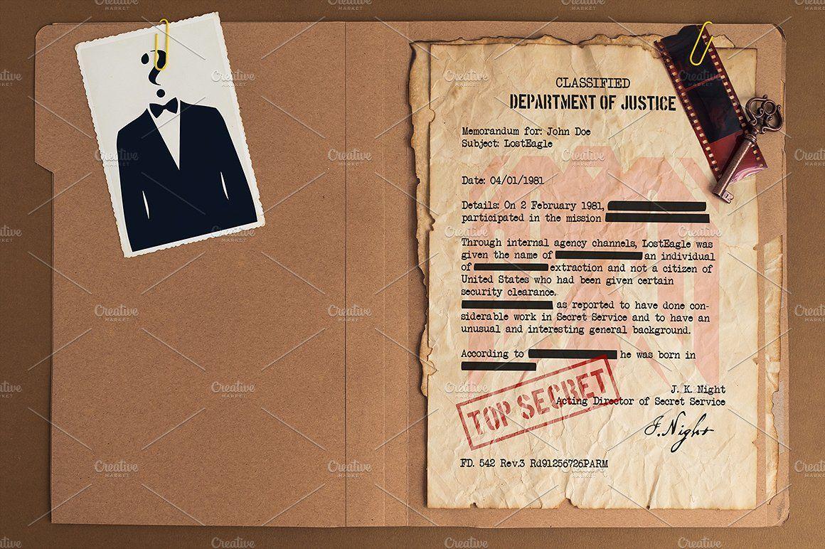 top secret file mockup design product mockups on creative market