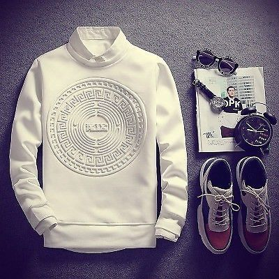 14.99 - Men s Solid Casual Male Streetwear Long Sleeve Hoodies Pullover  Sweatshirts  ebay  Fashion 694596528d16