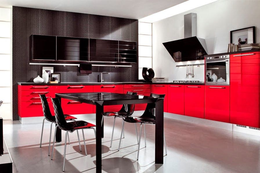 Black And Red Kitchen Designs Cly Decoration Decor Ideas