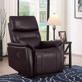 Wheeler Power Fabric Recliner Dark Brown Recliner Sit Back And Relax Chair