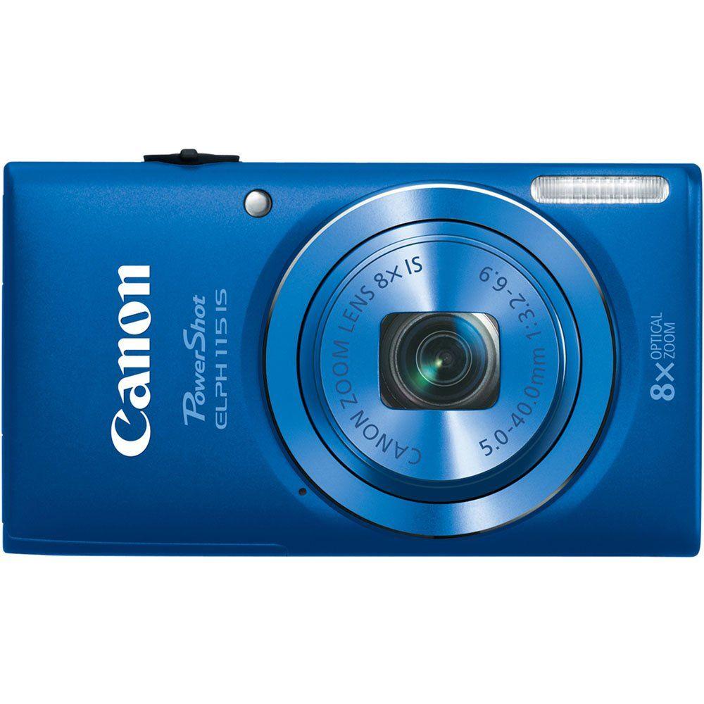 Amazon.com : Canon PowerShot ELPH 115 16MP Digital Camera (Blue) (OLD MODEL) : Point And Shoot Digital Cameras : Electronics