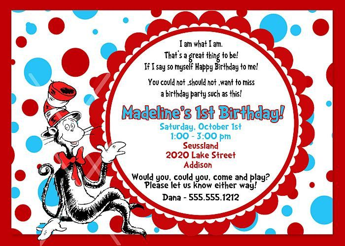 Dr seuss cat in the hat birthday invitation printable invitation dr seuss cat in the hat birthday invitation printable invitation design 1000 stopboris Image collections