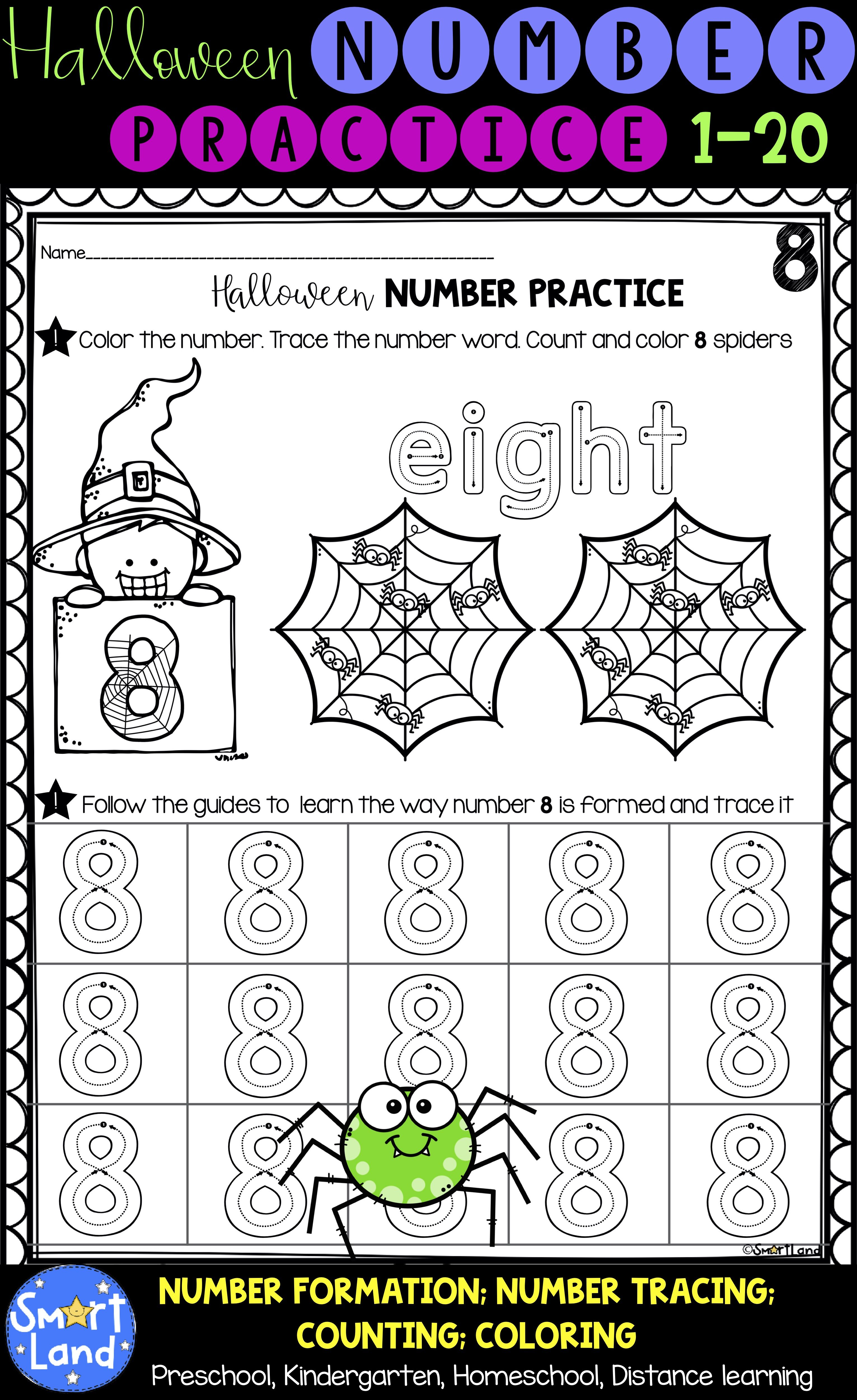 Halloween Numbers 1 20 Handwriting And Counting Worksheets Fall Preschool Activities Halloween Worksheets Preschool Math Worksheets [ 5000 x 3062 Pixel ]