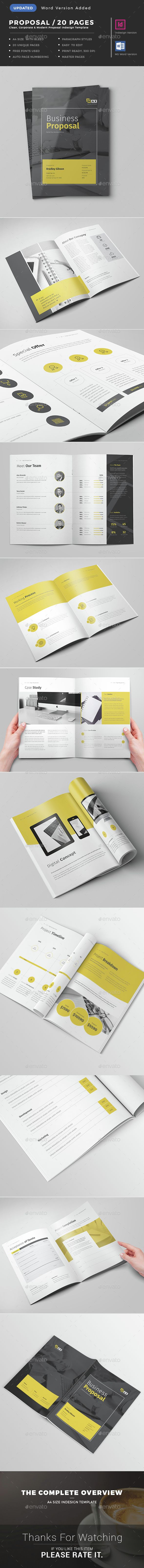Proposal Template Pinterest Proposal Templates Proposals And