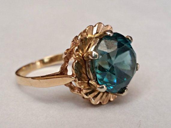 Vintage Art Deco Art Nouveau Genuine Blue by CypressCreekVintage