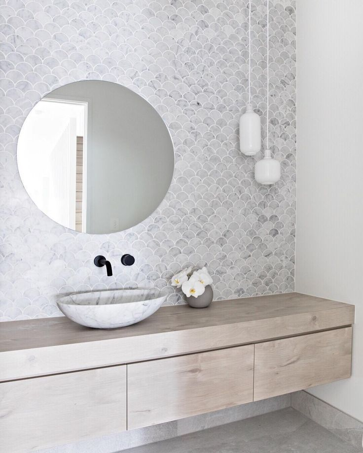 """Photo of Design + Styling Tips on Instagram: """"• Scandi Powder Room • The Powder Room is the perfect space to"""
