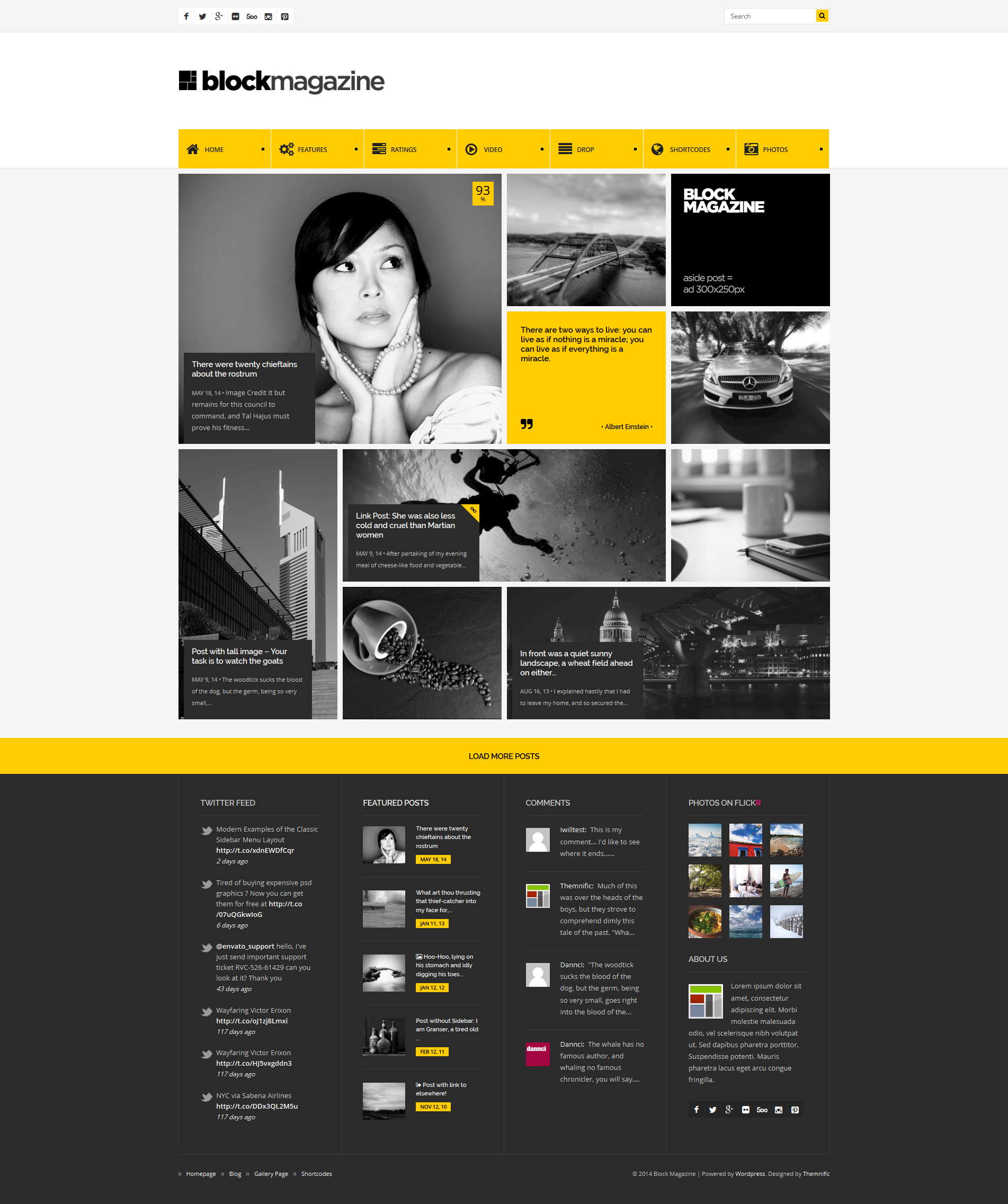 Block Magazine is fresh #WordPress blog theme with masonry and fully ...