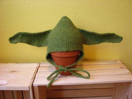 DIY: Felt Yoda Hat free pattern   Baby yoda hat pattern ...