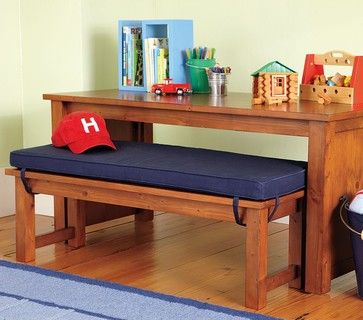 Cameron Table & Bench   traditional   kids tables   by Pottery
