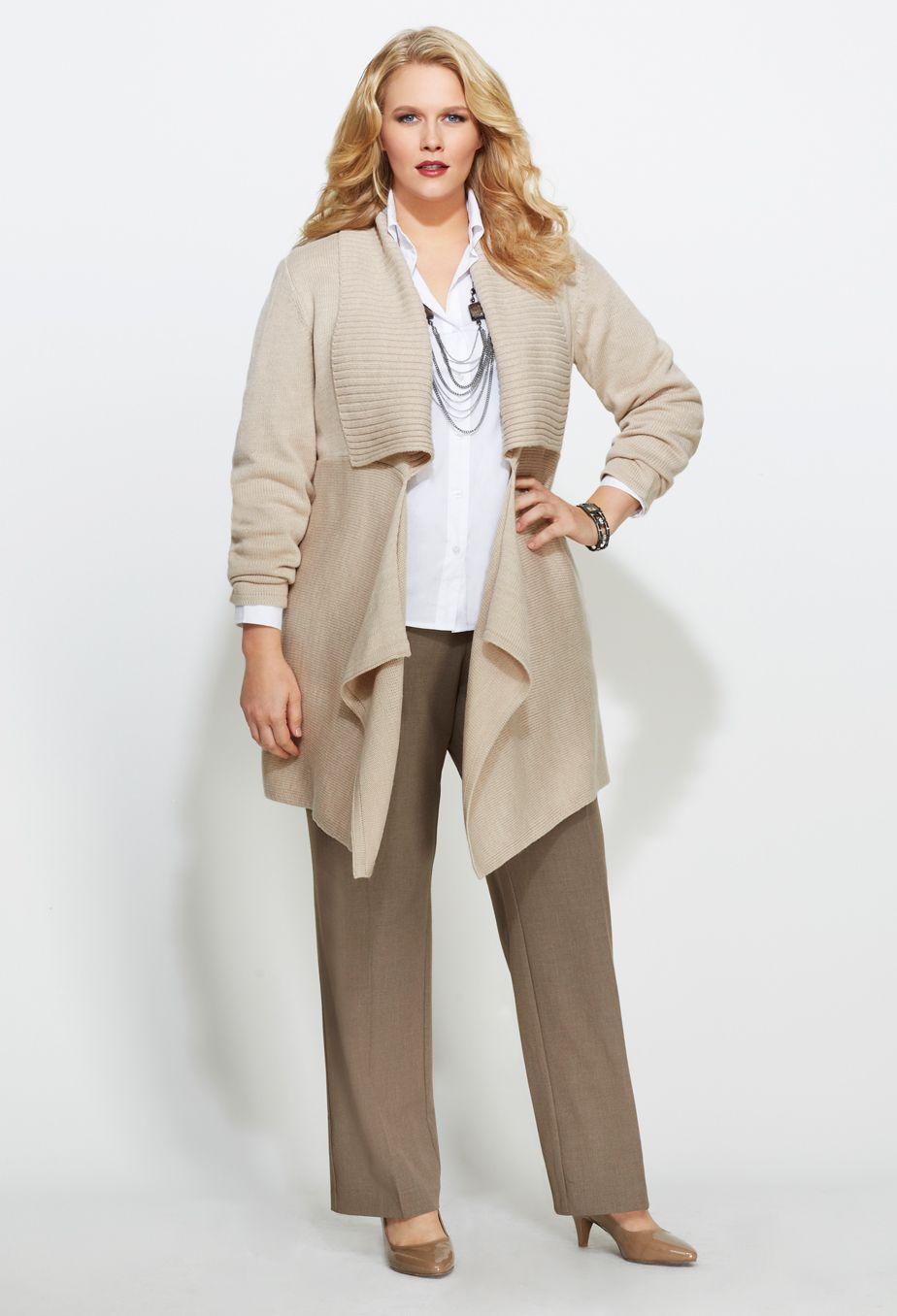 Plus Size Long Works  Plus Size Pants  Avenue  Womenus Business