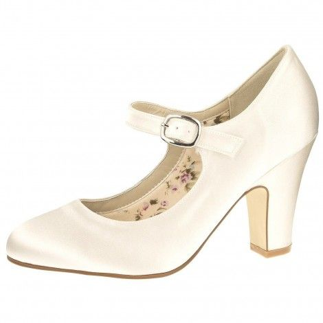 6b2093ebf7b Madeline by Rainbow Club Ivory Dyeable Satin Wedding or Occasion Shoes