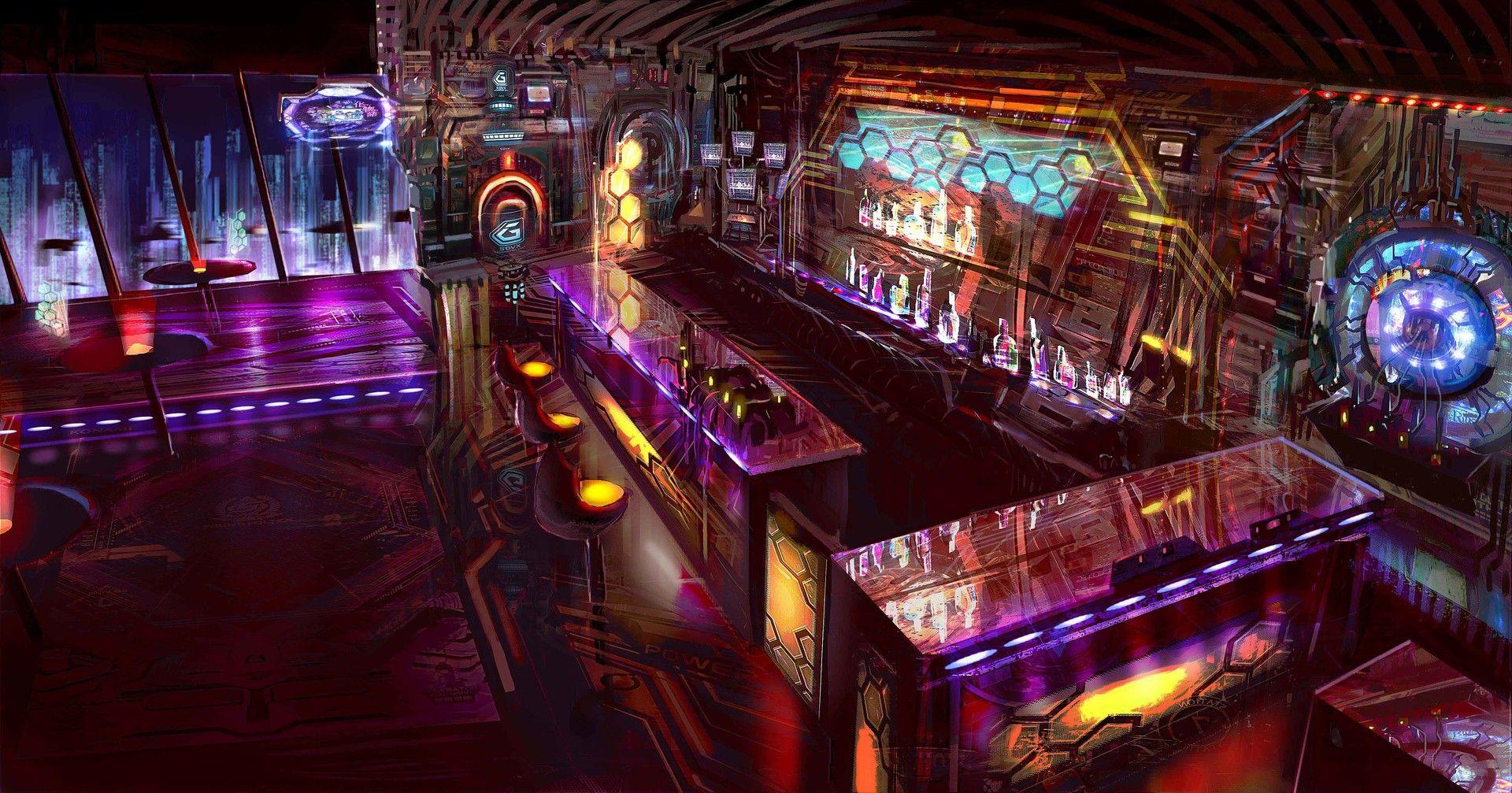 Sci Fi Bar Interior