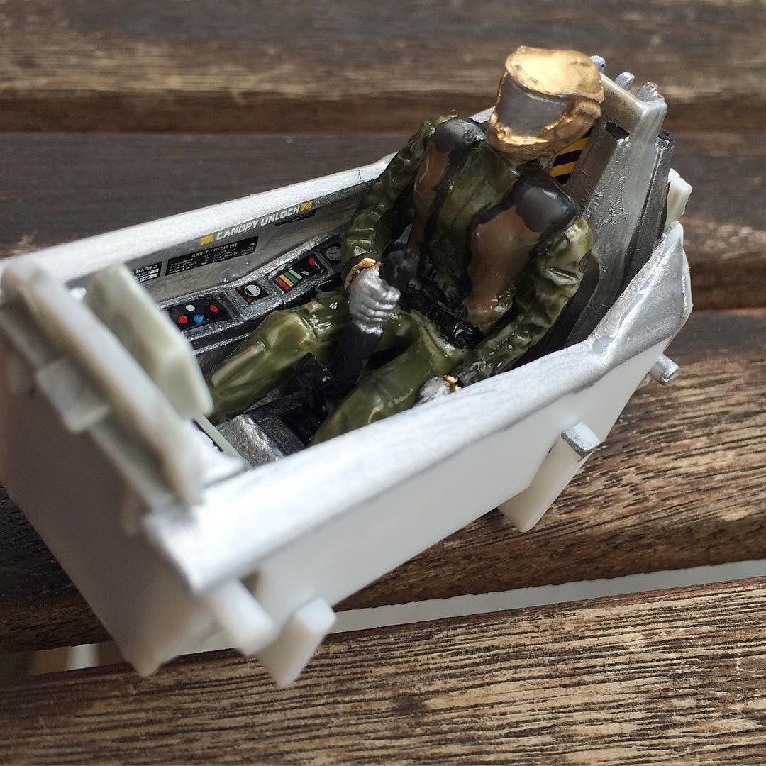 #maquette #modelism #cockpit #battlestargalactica #battlestar #galactica #vipermkii #colonialviper #starbuck #apollo