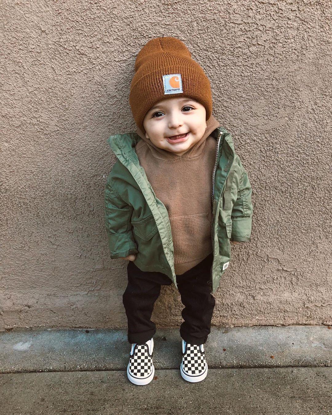 Vans Slip On Checkerboard Skate Shoe – Little Kid / Big Kid – Black / White