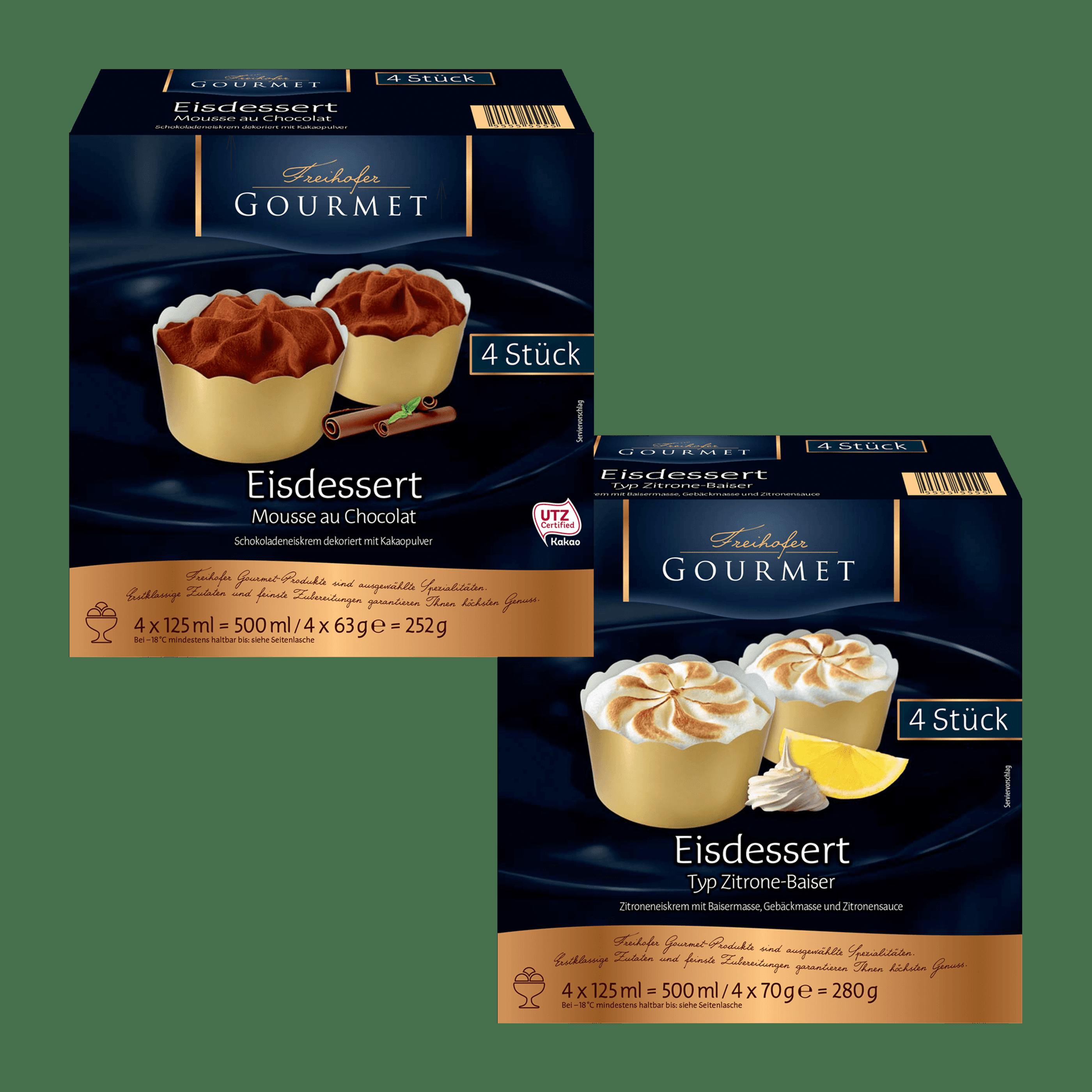 Freihofer Gourmet Eisdessert Von Aldi Nord Gourmet Dessert Eisdessert
