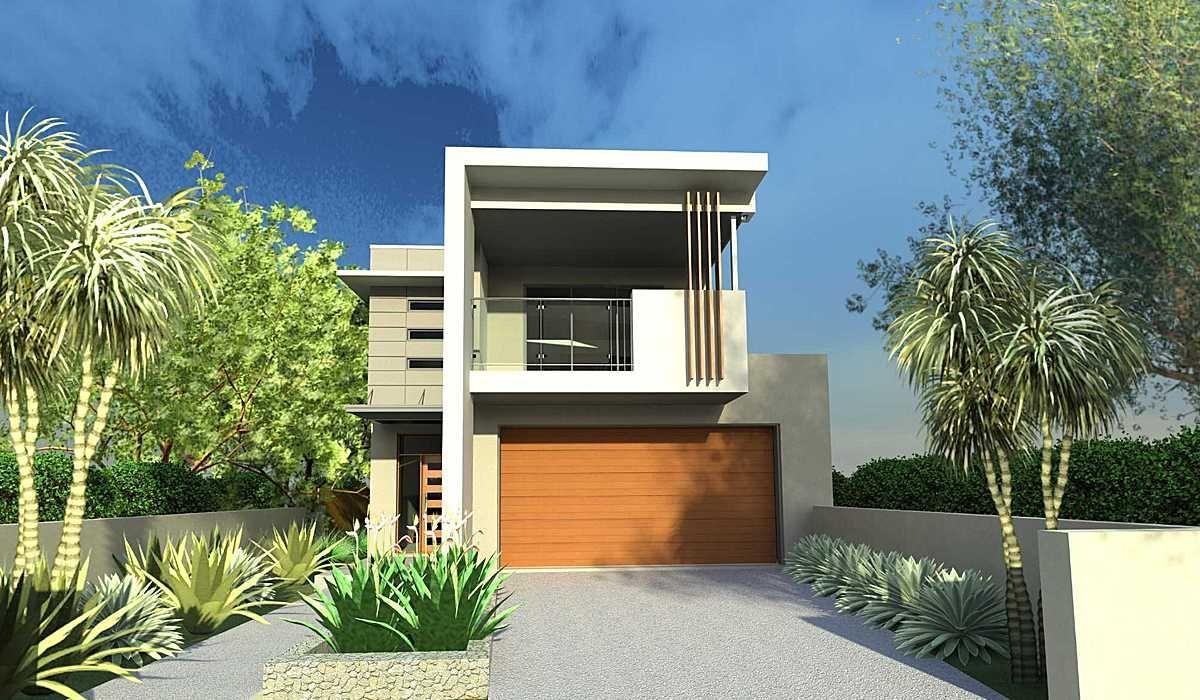 Small House Plan For Narrow Lots Narrow Lot House Plans Narrow Lot House Facade House