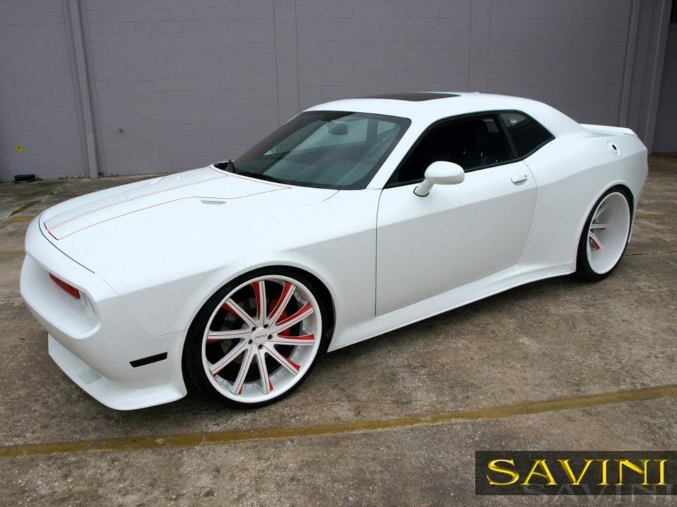 dodge challenger white and red. custom red and black rims cars more dodge challenger on savini wheels white h