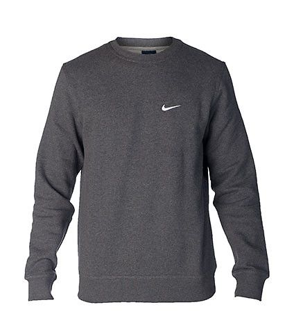 NIKE Crew neck sweatshirt Long sleeves Soft inner fleece for ...