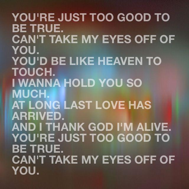 Can take my eyes off you lauryn hill lyrics
