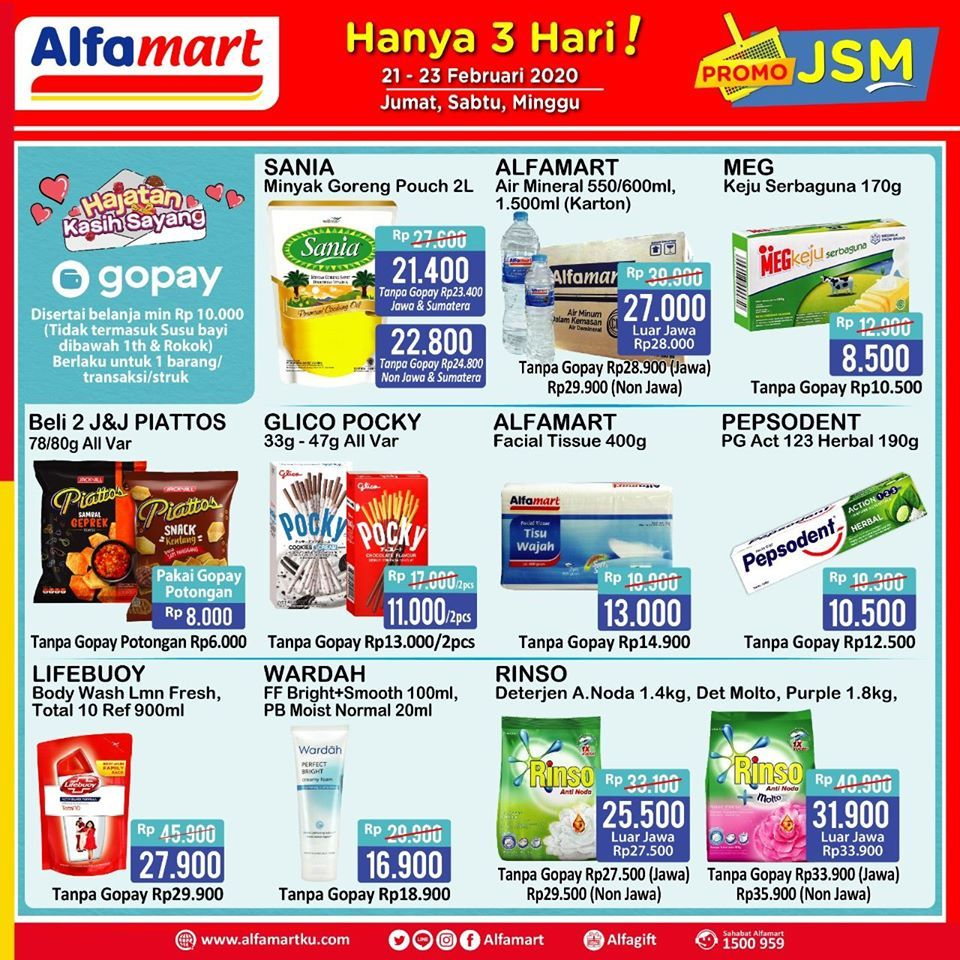 Promo Jsm Alfamart 21 23 Februari 2020 Di 2020 Februari Brosur Minyak Goreng