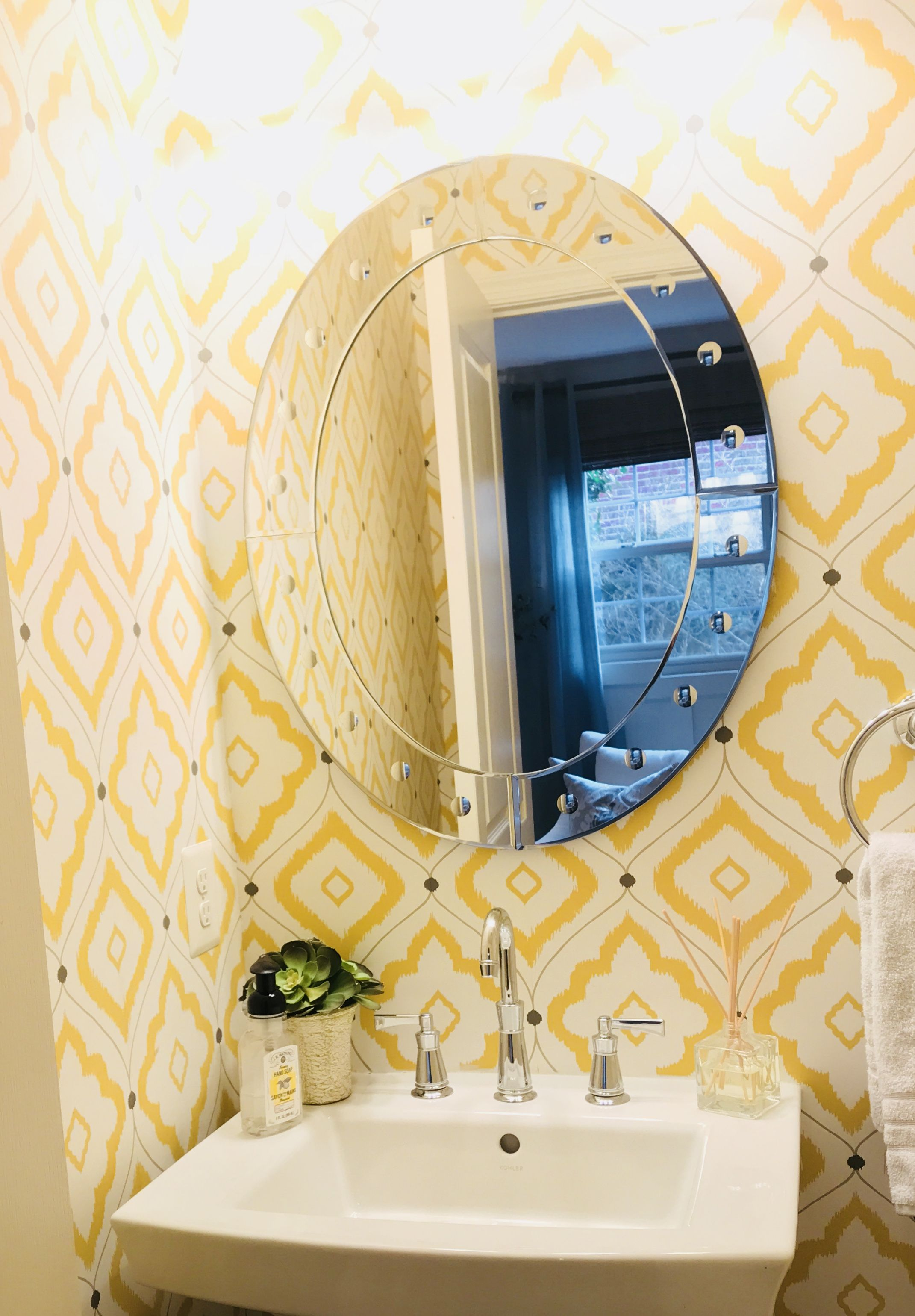 A little sunshine in the form of a powder room. This is Thibaut from ...
