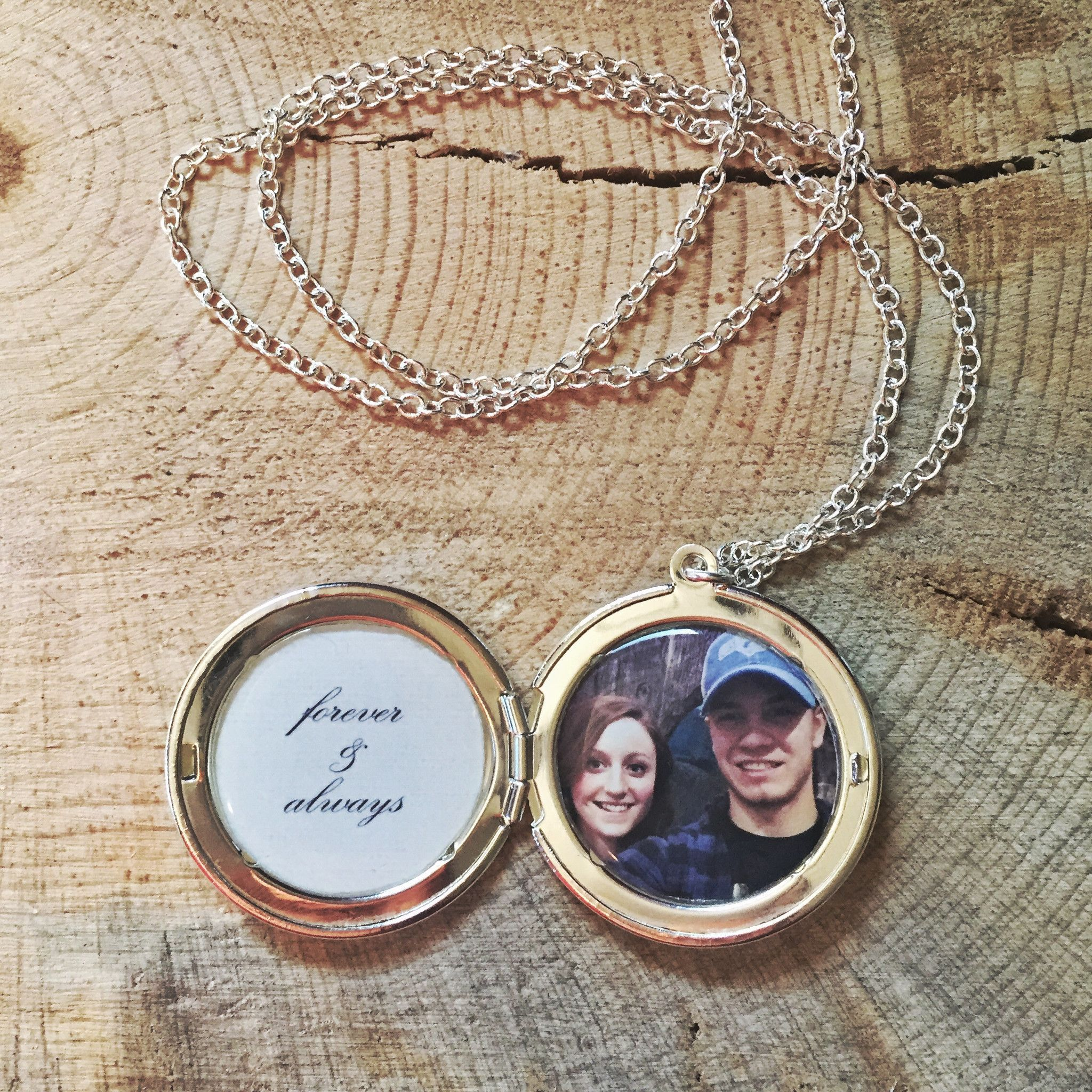 pin lockets photo necklace locket secret custom message