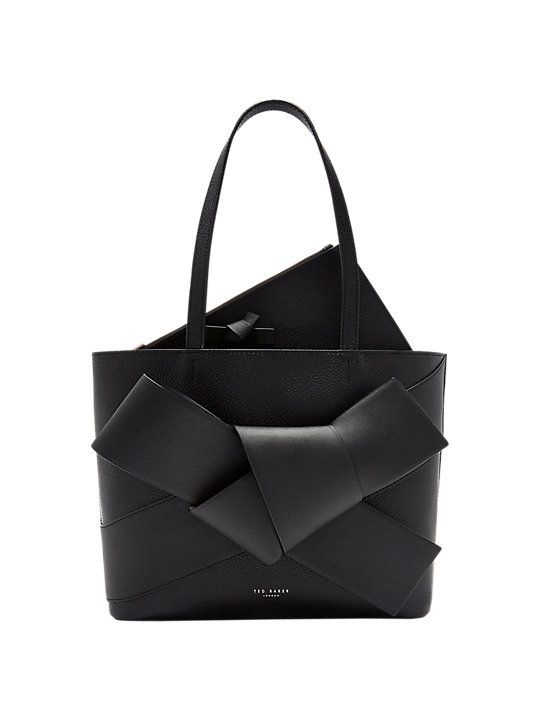 8b32cf518d Ted Baker Alliie Leather Giant Bow Shopper Bag