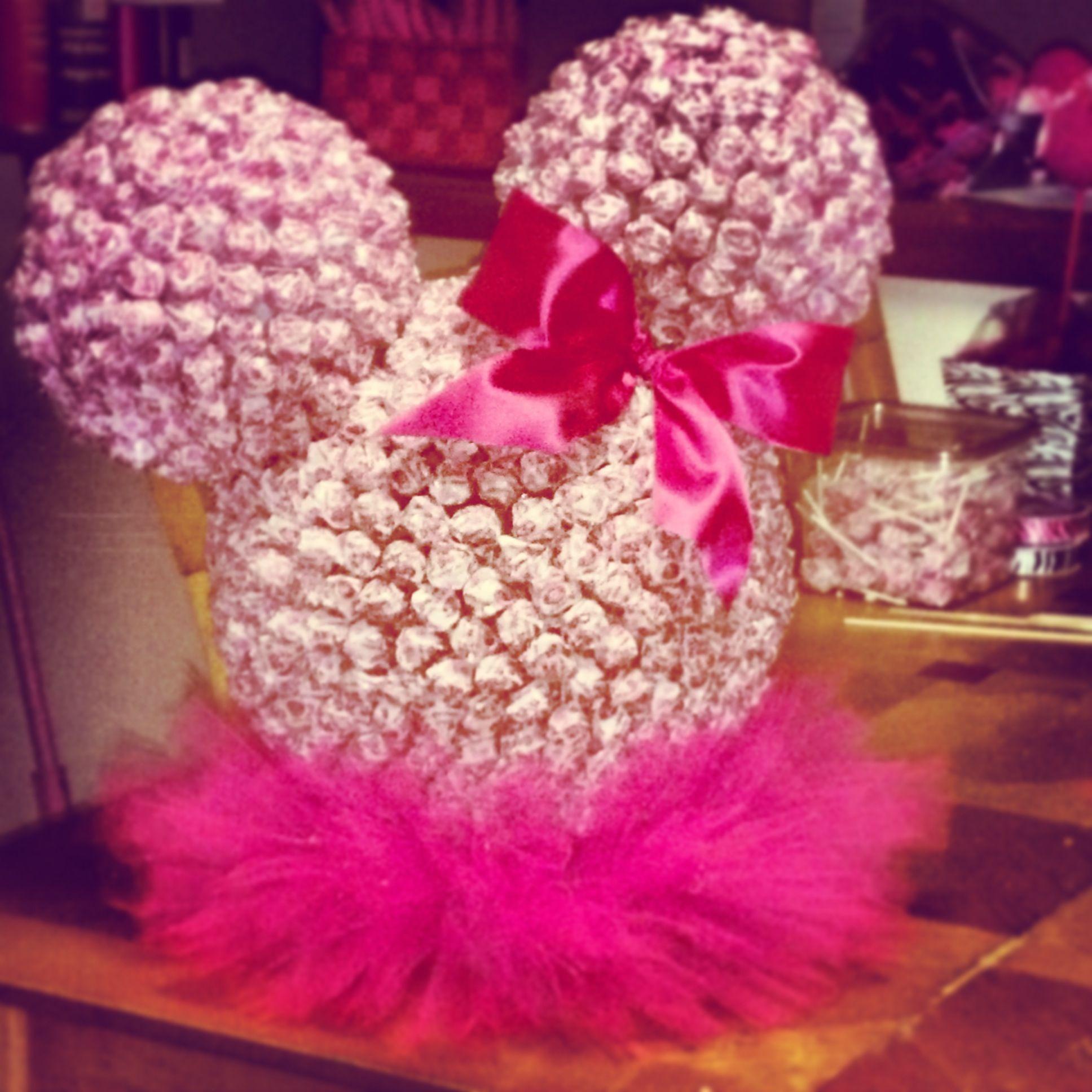 Minnie Mouse dum dum head | Nevaeh\'s 1st birthday | Pinterest