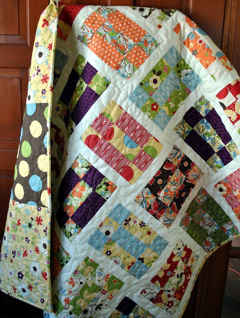 Vintage tumbling blocks quilt inspiration – q is for quilter.