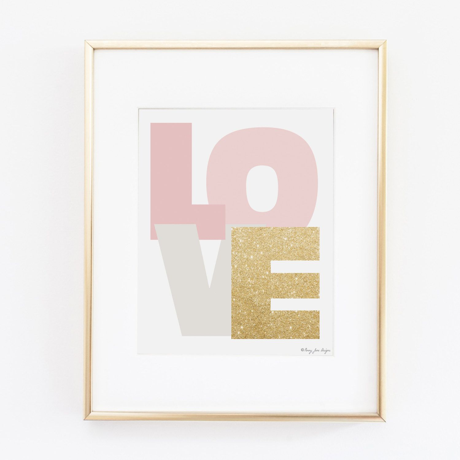 Bold Pink, Gray, and Gold Printable Art | Nursery Decor | Gold Glitter Art | Office Decor Printable Art | Gold Glitter by PennyJaneDesign on Etsy https://www.etsy.com/listing/216248959/bold-pink-gray-and-gold-printable-art