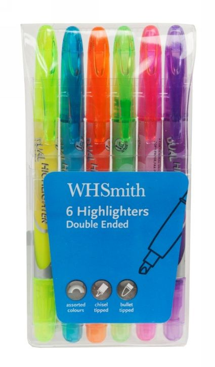 office school,college university pack of 2 Yellow and Green Highlighter Pens