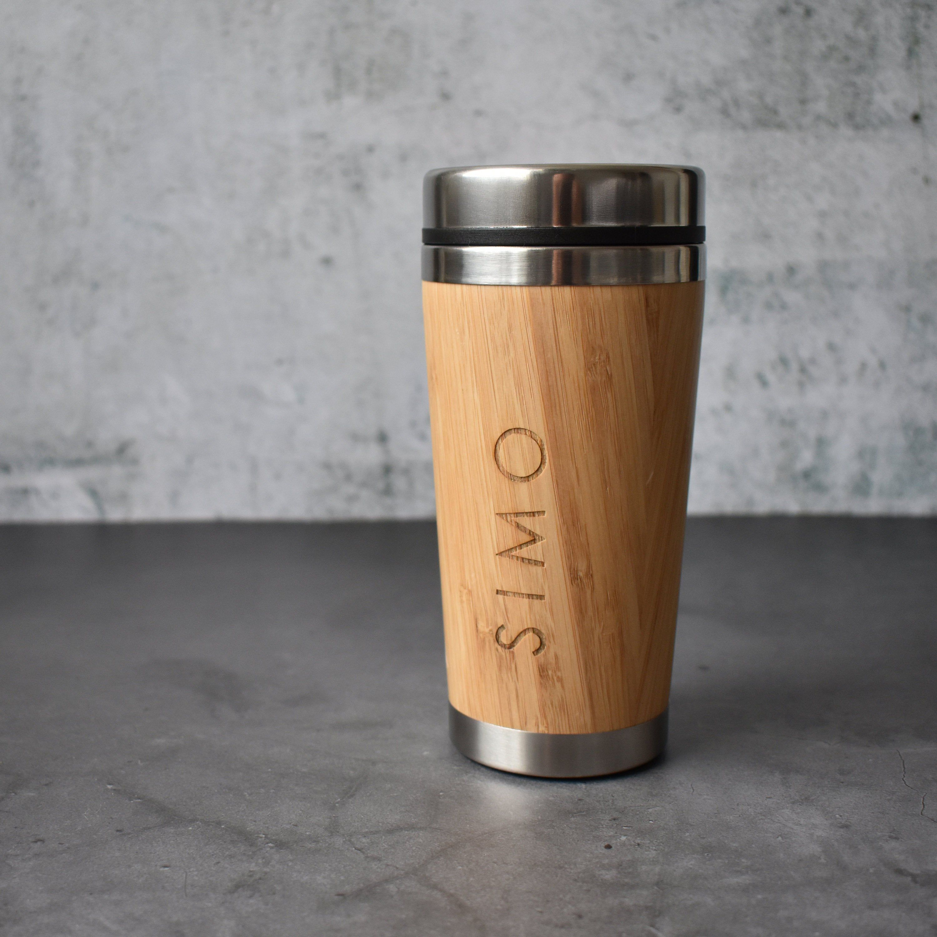 Personalised Travel Mug Bamboo Mug Wood Tumbler 450ml | Etsy