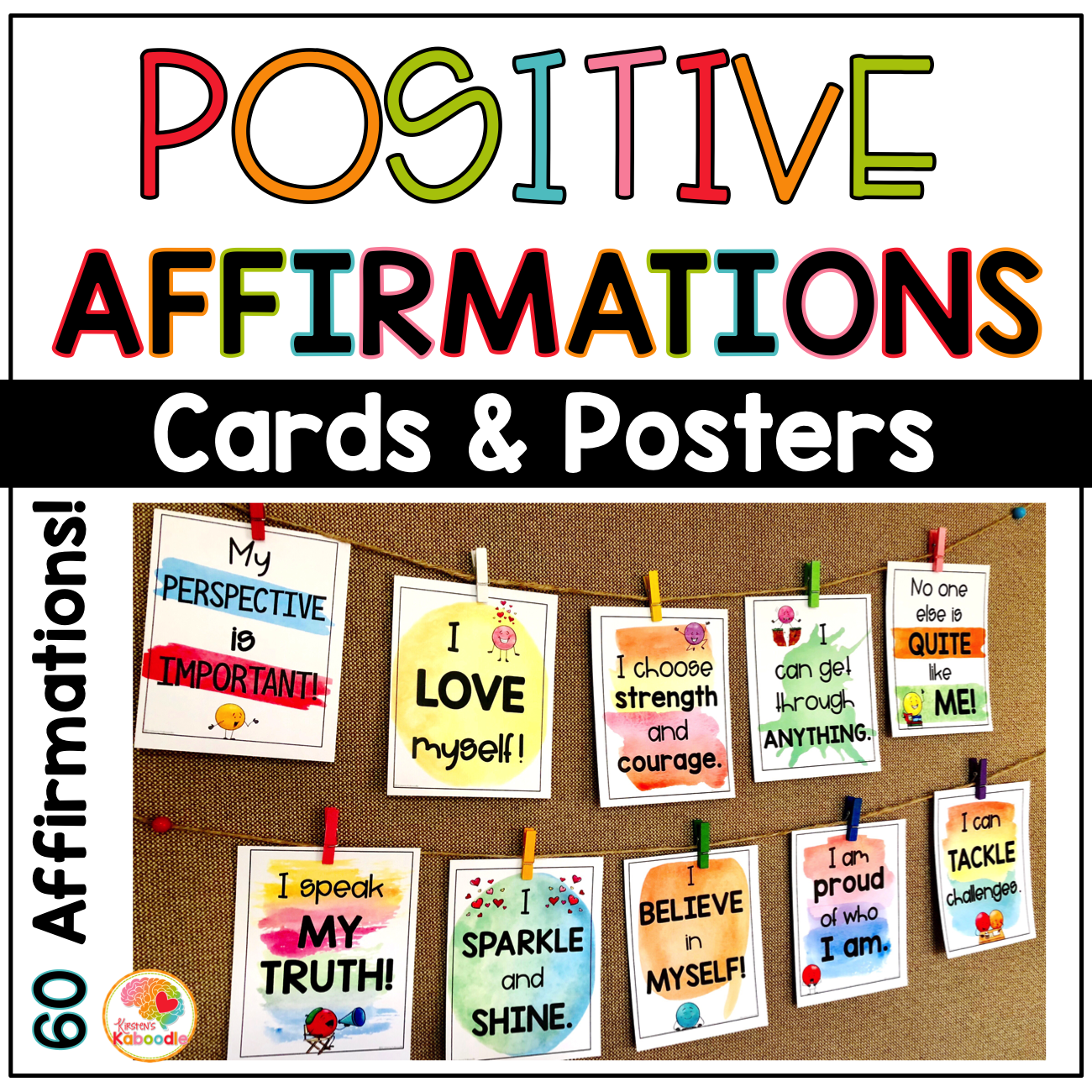 Positive Affirmations Posters And Cards Full Color