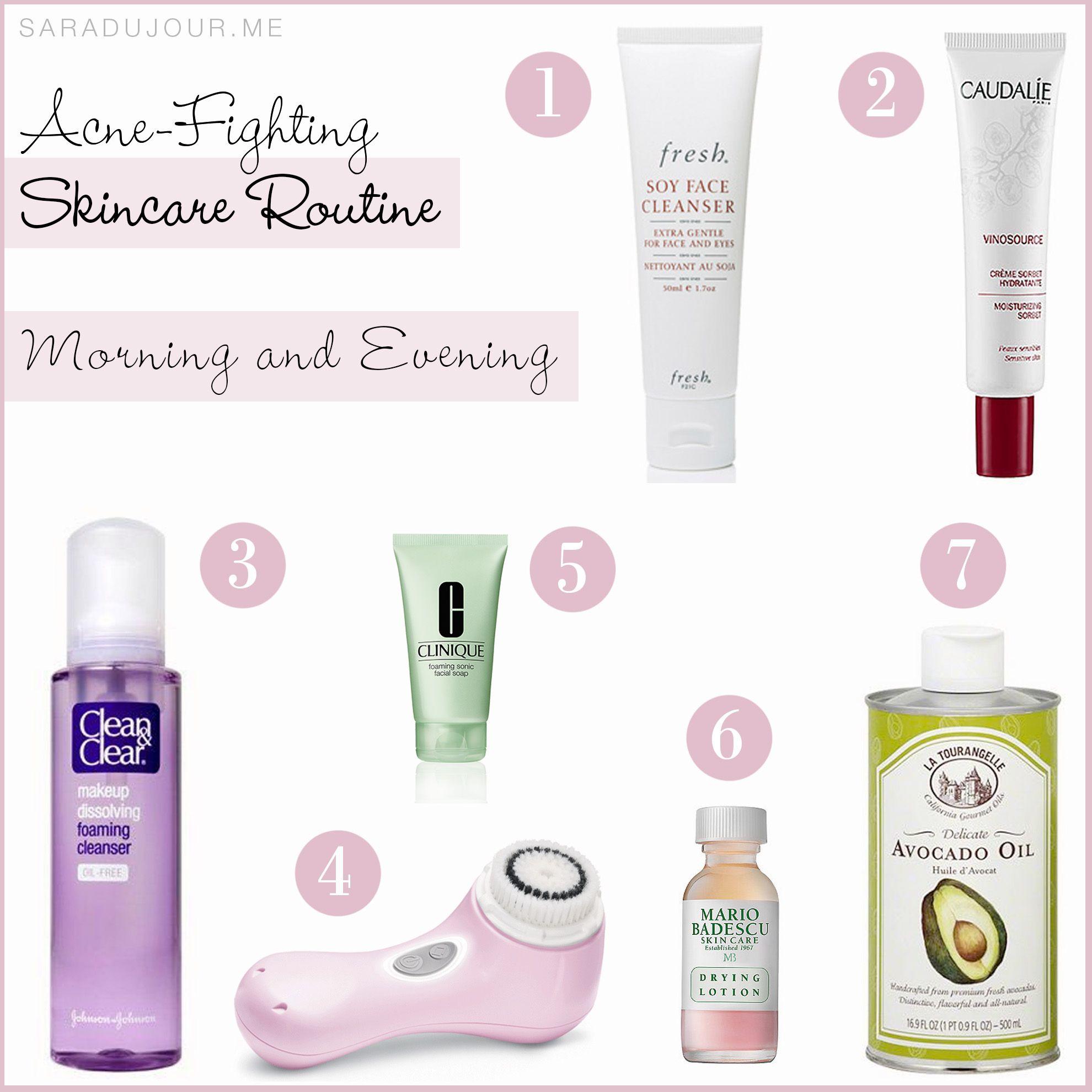 My AcneFighting Skincare Routine Night skin care
