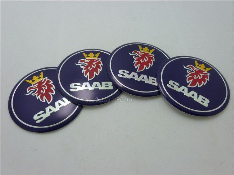 Fast Shipping 4pcs Lot 56 6mm Saab Wheel Hub Cap Emblem Decal Sticker 2 22inch Saab Center Cap Badge 11 96 Hub Caps Saab Emblems