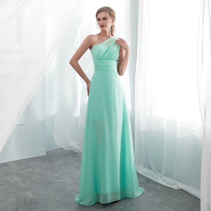 ab4d240e9e96 Ladies Sleeveless Color Long Chiffon A Line Bridesmaid Dresses 2018 Long  Party Pageant Wedding Bridal Formal