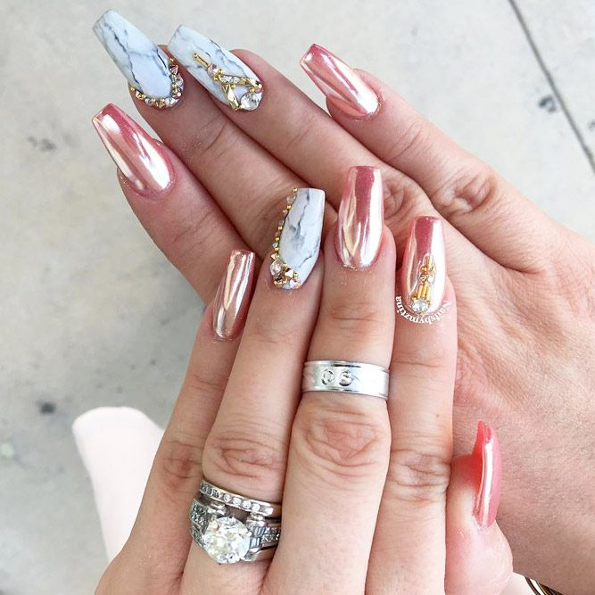 Chrome Nails Designs, Acrylic Nail Designs, Nail Art Designs, Pretty Nails,  Cute - 24 Chrome Nails Design - The Newest Manicure Trend Nail Ideas