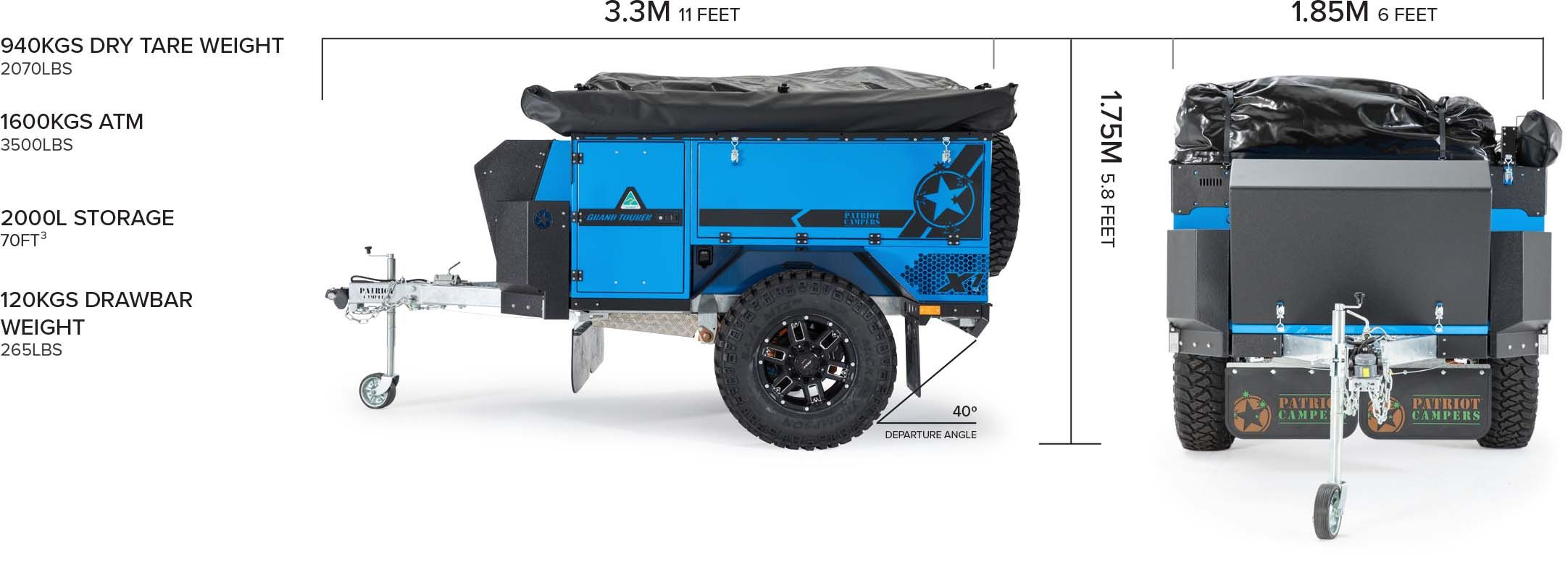 Patriot Campers X1 Standard Edition Camper Trailer Vehicles Jeep Wrangler Remolques De Campamento Autocaravana