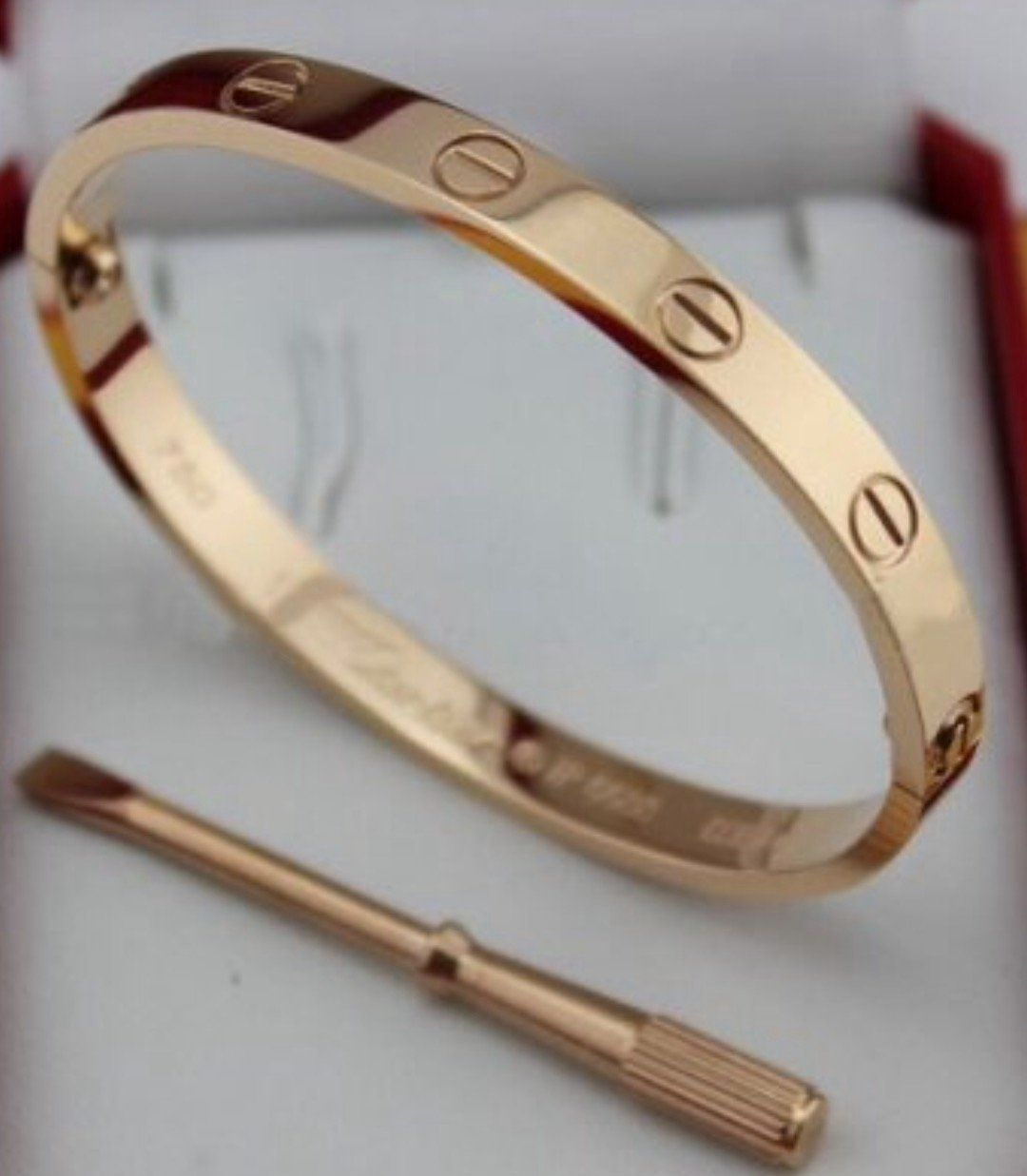 871658a60 Click on the My Store link to the right to see other sizes and colors!!  This is a brand new Cartier Love bracelet 18K Electroplated Rose Gold