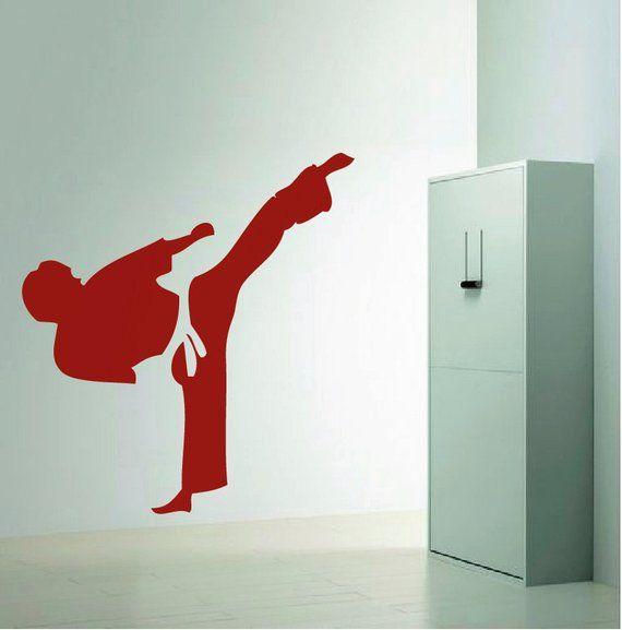 Kung Fu Wall Decal Asian Decal Marital Art Wall Decals Martial Art Murals Fighters Wall Decals Sports Wall Decals Wall Decals Wall Design