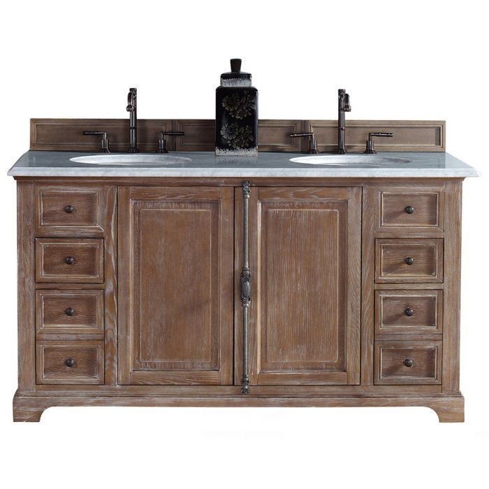 James Martin Furniture Providence 60 Double Driftwood Bathroom Vanity Set Reviews Wayfair
