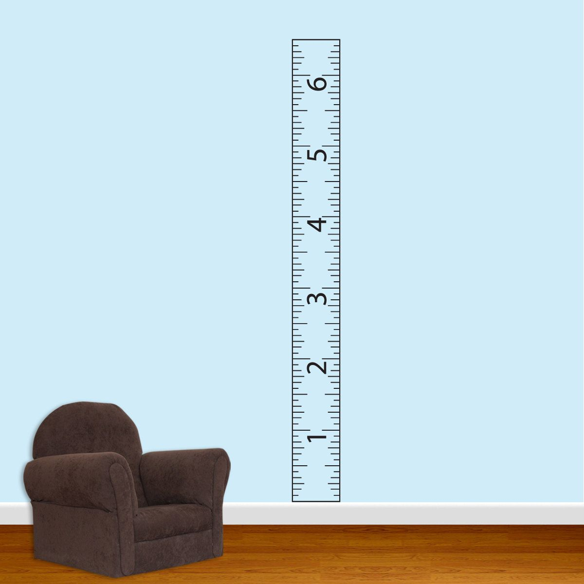 Childrens Ruler Growth Chart Vinyl Wall Decal With Border - Ruler growth chart vinyl decal