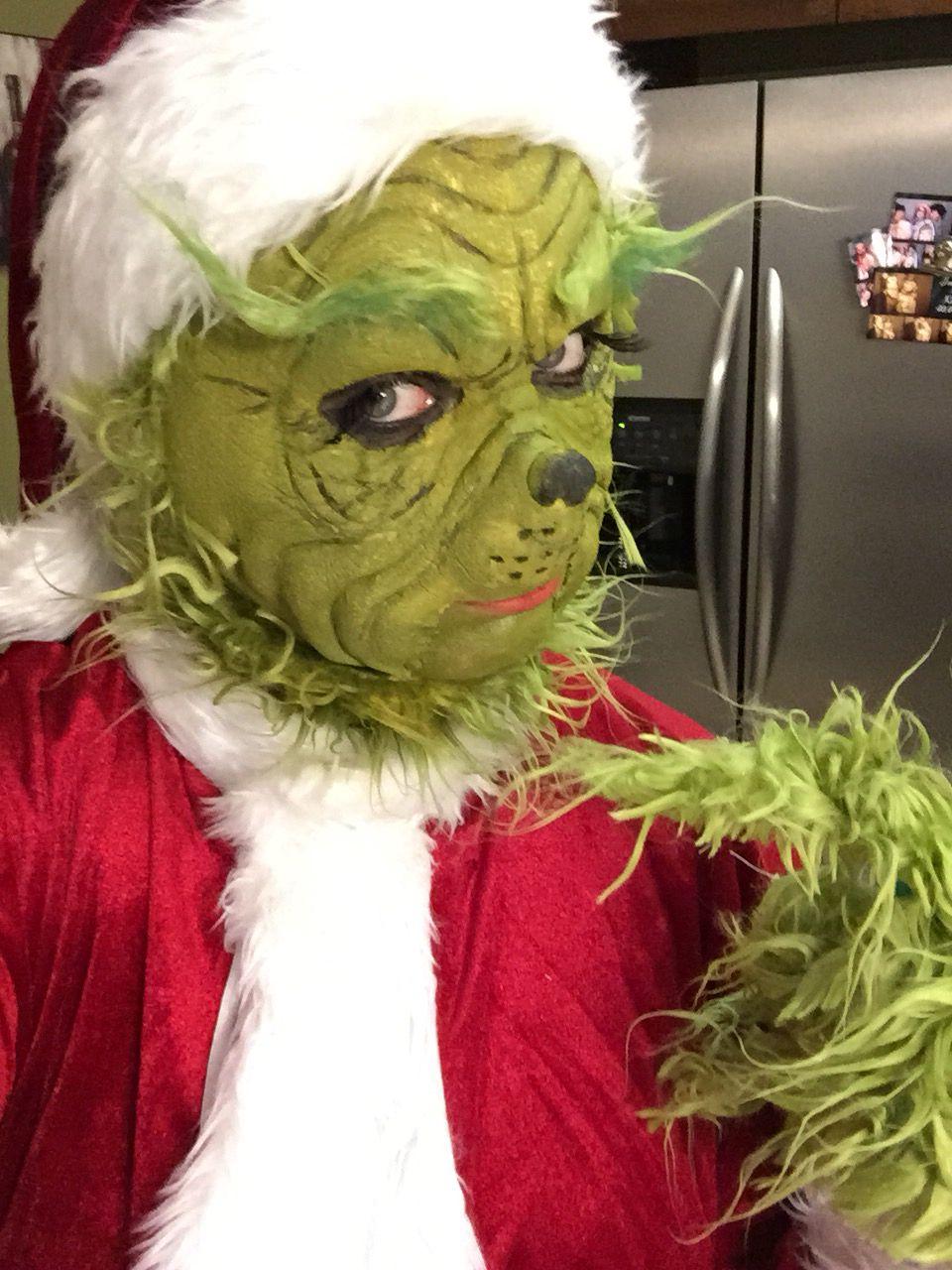 The grinch Halloween costume Christmas diy homemade.. youtube ...