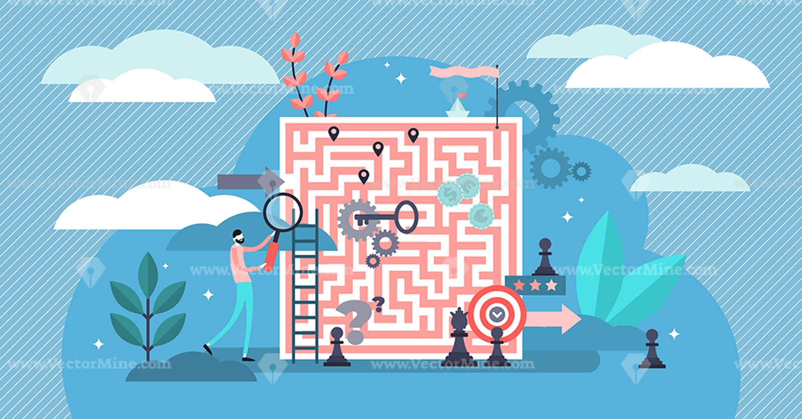 Problem Solving Vector Illustration Vector Illustration Problem Solving Illustration
