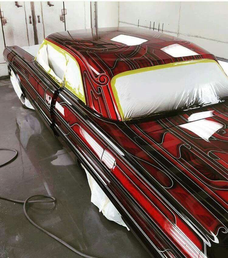 Beautiful Black And Red Custom Paint
