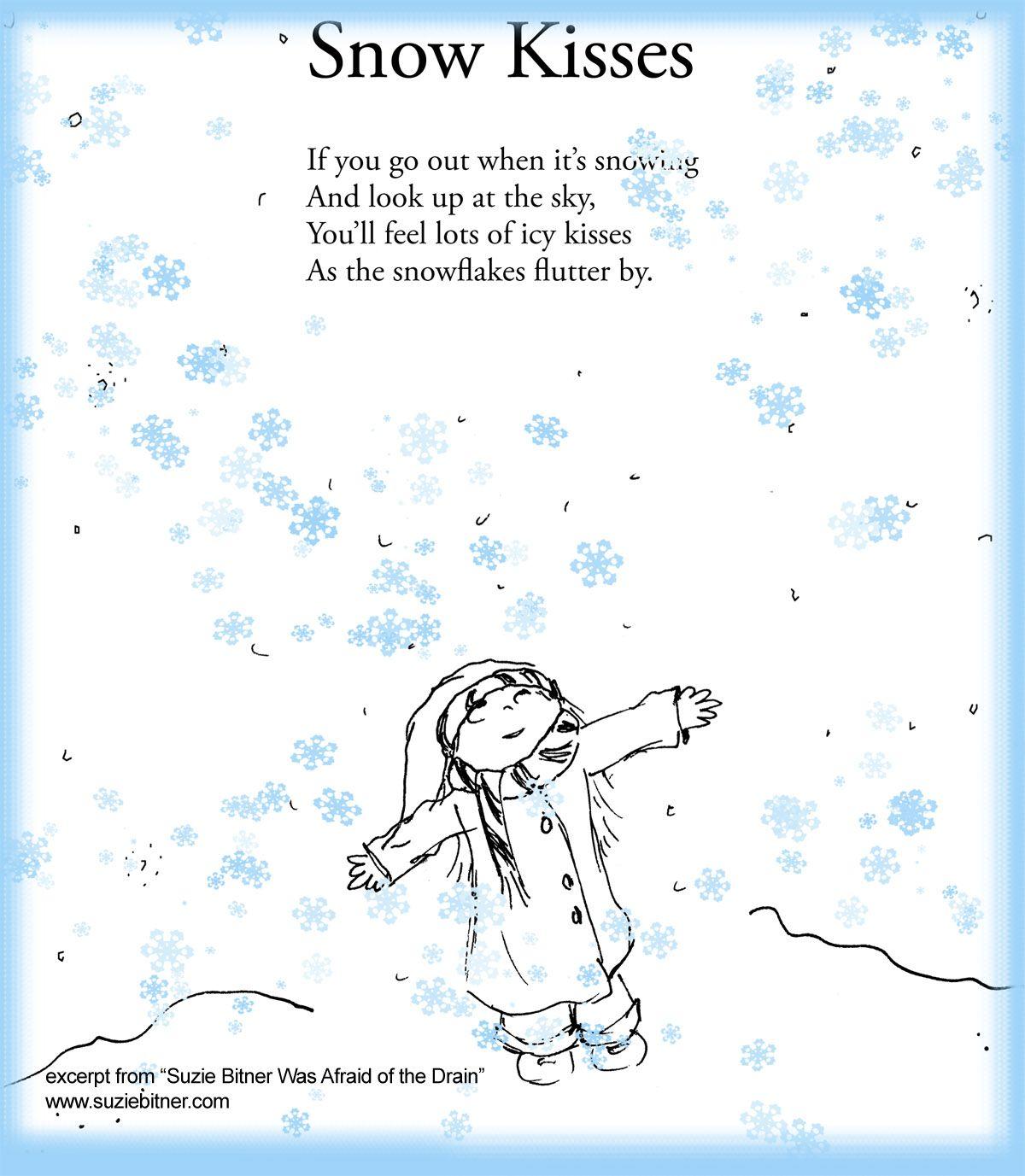 snow kisses poem children u0027s poem for winter great for