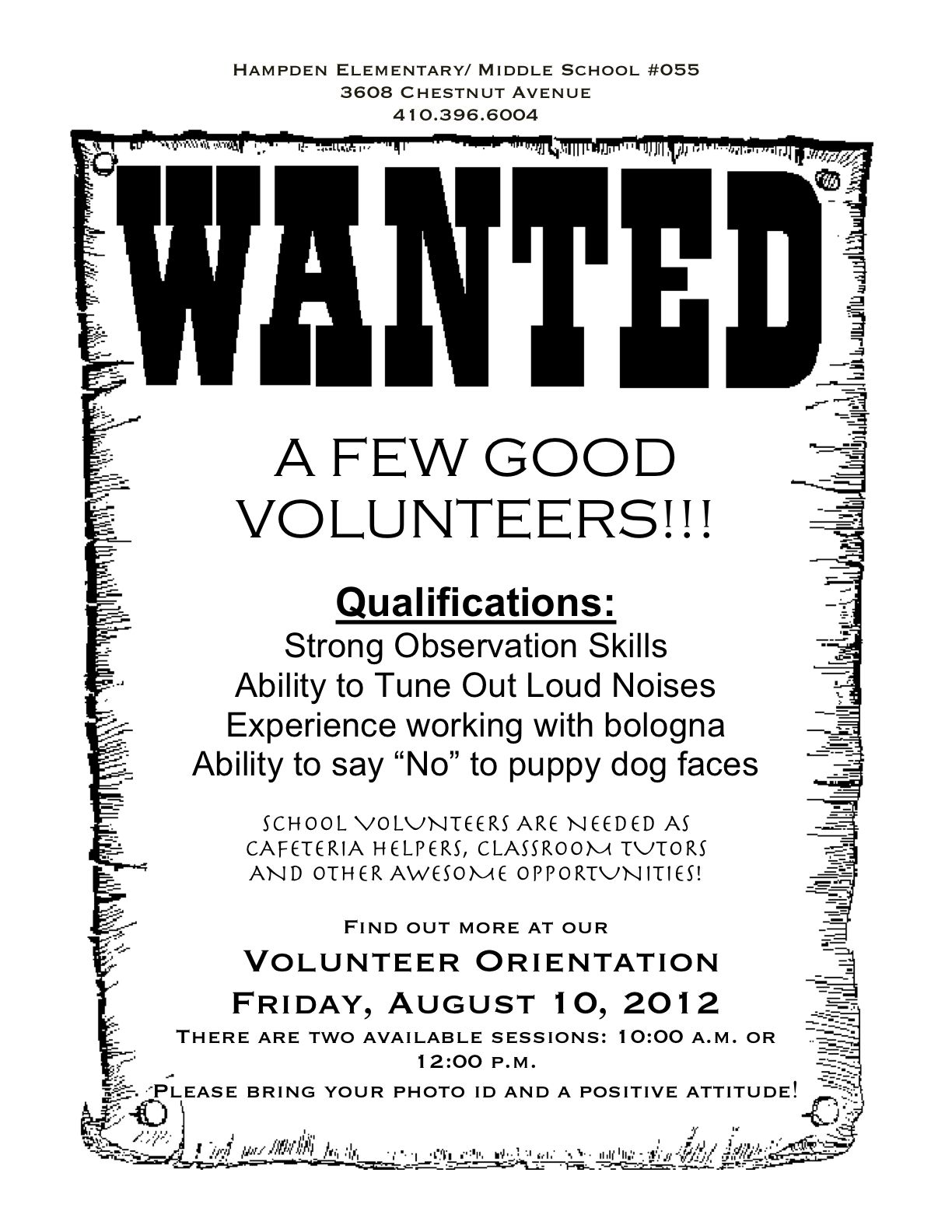 The Best Wanted Poster Ever | August 2012 ED News Worth Reading ...