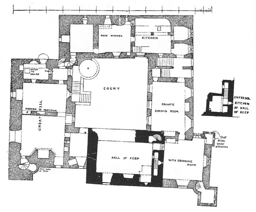 Crichton Castle The Castles Of Scotland Coventry Goblinshead Floor Plans Hall Flooring Hall House