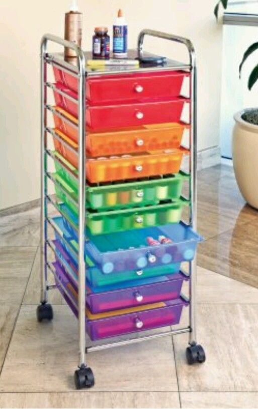 Details About Storage Cart Art Drawer Craft Rolling Paper
